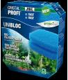Комплект губок Unibloc в корзину внешних фильтров JBL CristalProfi e1500, e1501, e1502, e1901, e1902