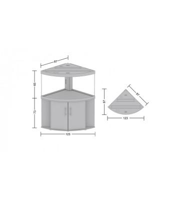 Аквариум Juwel Trigon 350 угловой с тумбой