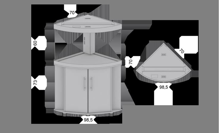 Размеры, габариты Juwel Trigon 190